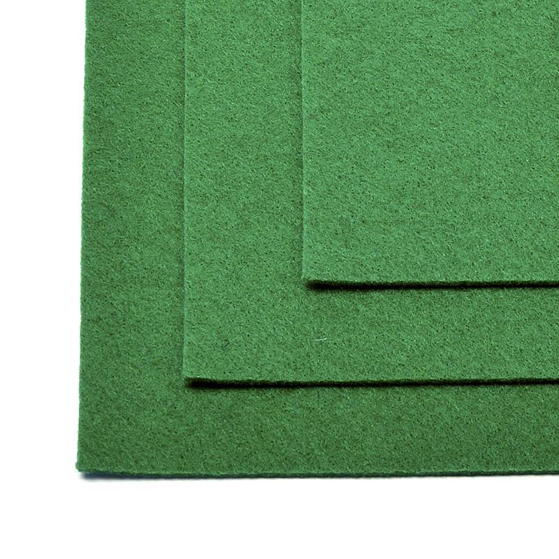 Фетр листовой жест. FLT-H1 1мм 20*30см 10шт 672 зеленый IDEAL