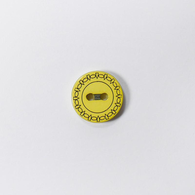 Пуговицы Рубашка L049 2 прокола 13мм желтый Одеон 1шт