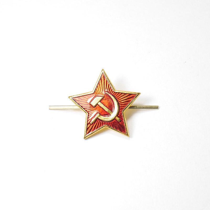 Звезда металлическая СА 24мм золотая с-354