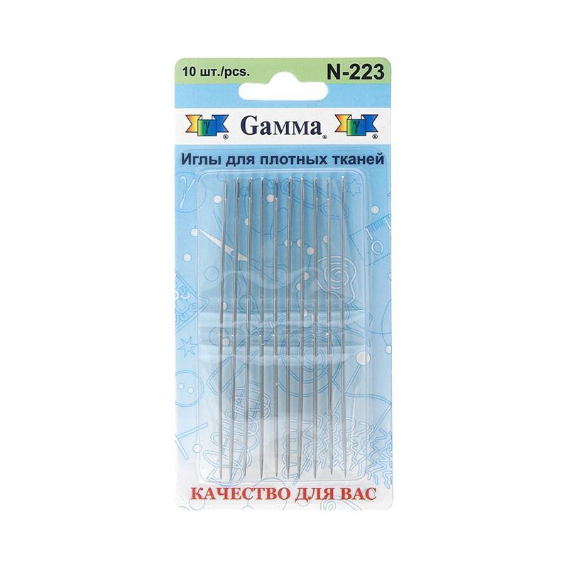 Иглы ручные Гамма для шитья N-223 10шт 1,2х90мм