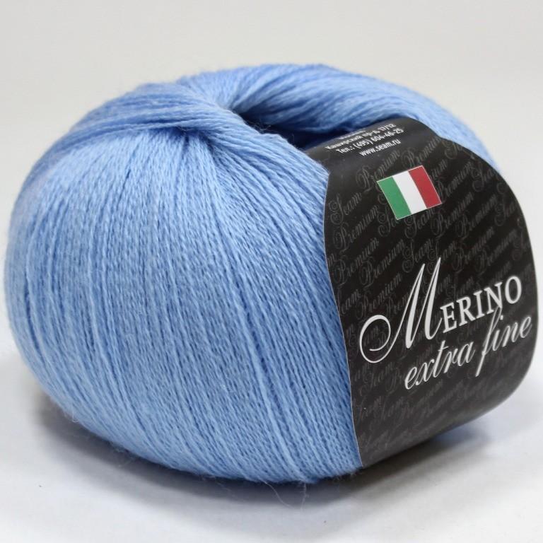 Пряжа Мерино экстра фине 24 - голубой