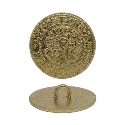 Пуговица на ножке 20мм герб золото 600597