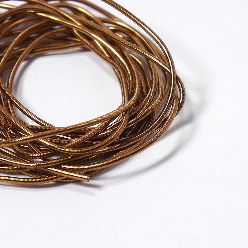 Канитель 1мм 776ЕМВ коричнево-золотой 5гр