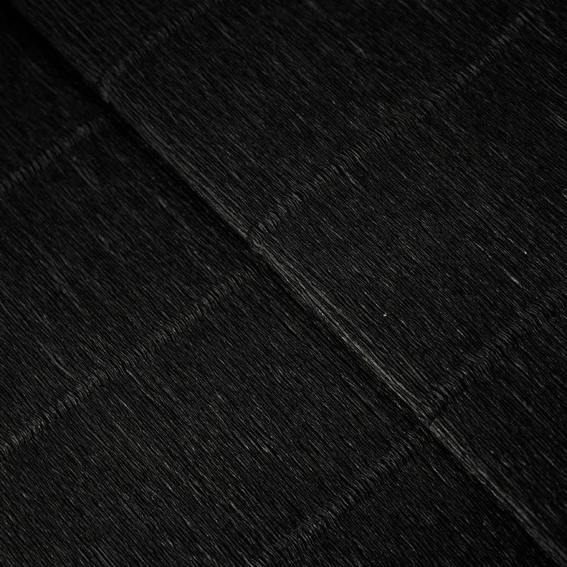 Бумага гофрированная 50см 2,5м 140г/м2 Италия 902 черный
