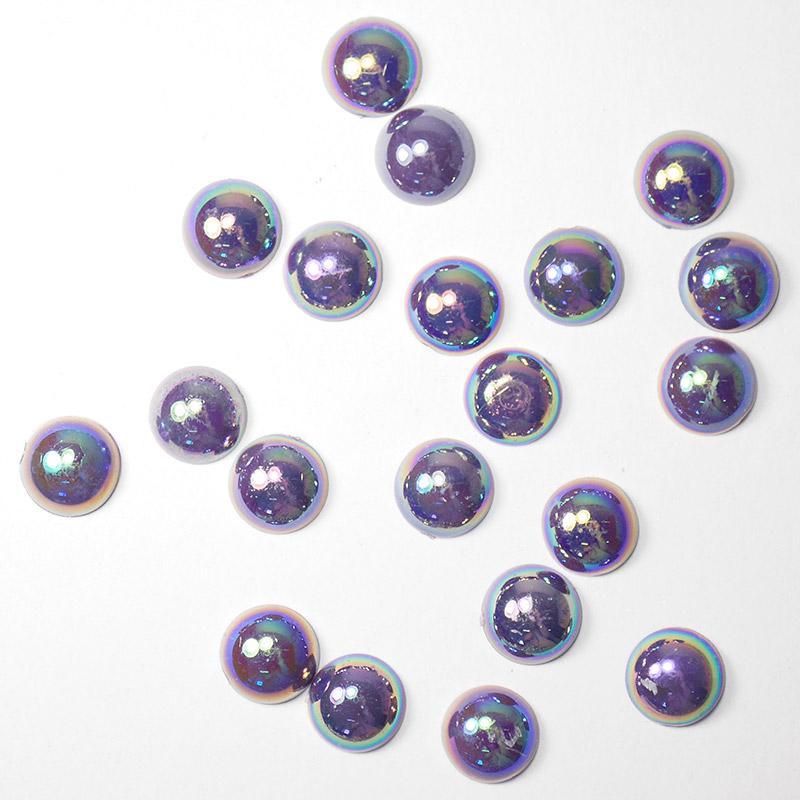 П/бусины перламутровые Круг 10мм 004 тем.фиолетовый