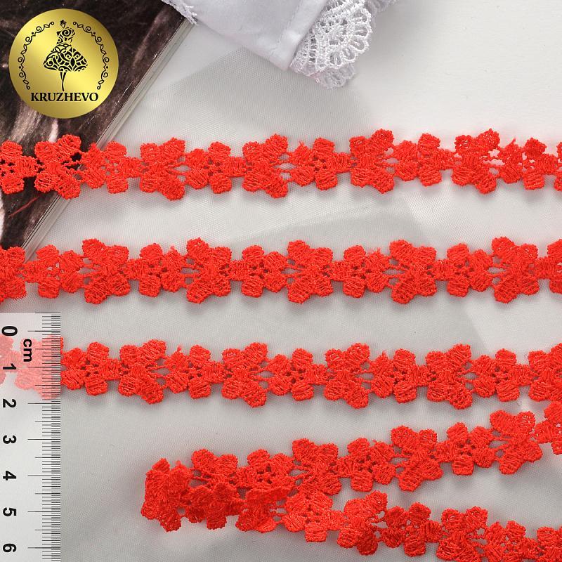 Кружево гипюр с бабочками 18мм 13,71м TBY.26416 515 красный