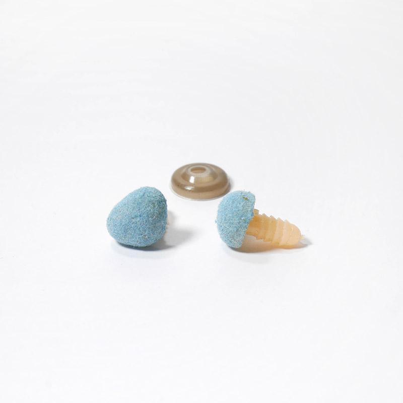 Носик винт.14х11мм КТ-1411 бархатный, треугольный, голубой