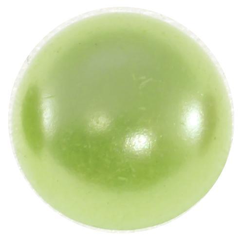 Полубусины Круг 8 св.салатовый 20г пластик