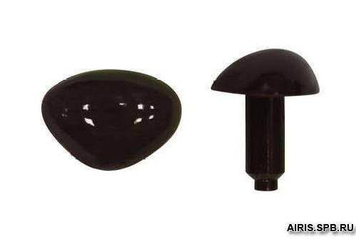 Носики для игрушек 1,9*1,4см Н47 черный 533871