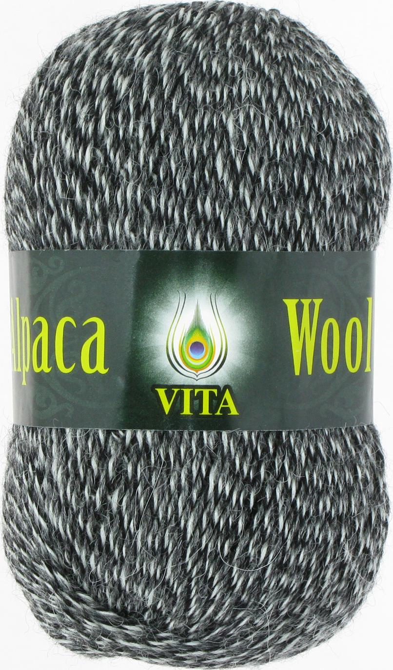 Alpaca Wool 2988 - черно-белый меланж