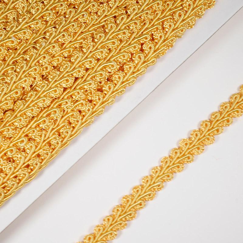 Тесьма Шанель 10мм 18.2м 024 оранжево-желтый