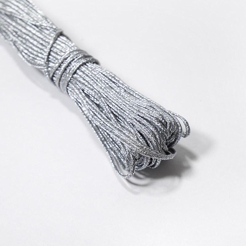 Шнур отделочный сутаж С2473г17/01 серебро 9182 20м