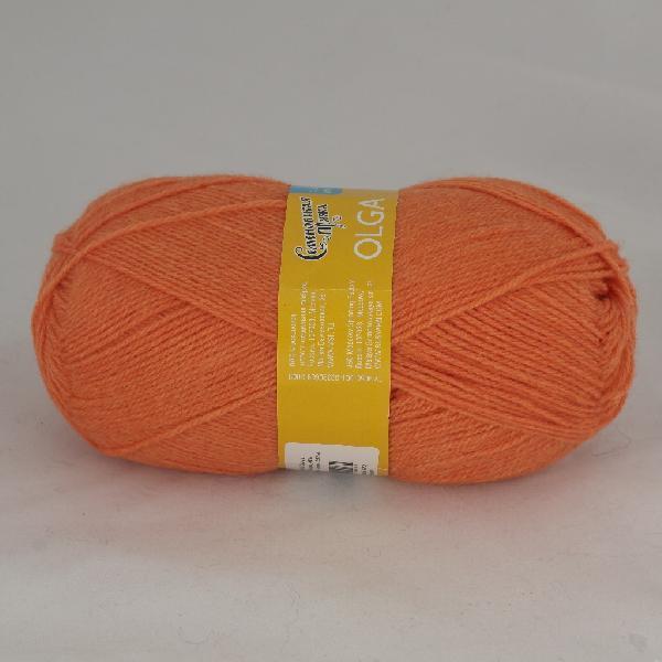 Пряжа Ольга 670 - морковный