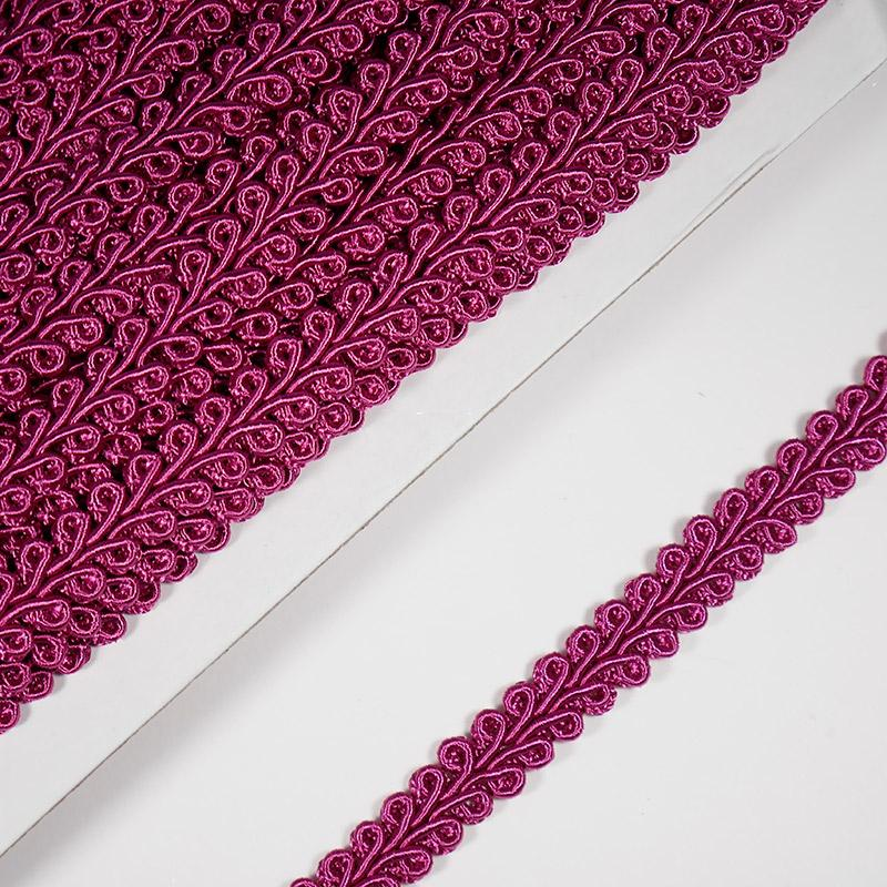 Тесьма Шанель 10мм 18.2м 083 розово-фиолетовый