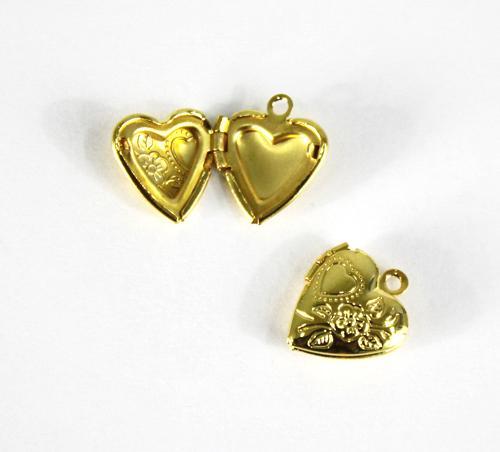 Декоративный элемент Сердечко 13х13мм 5шт золото 7703991 СК