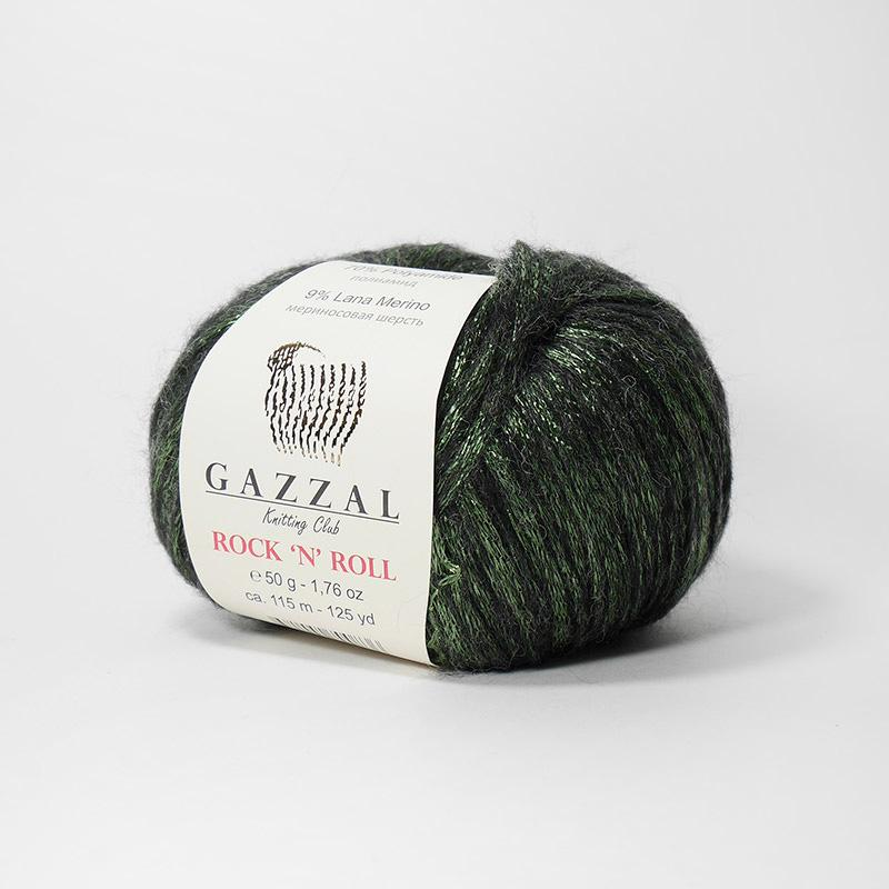Пряжа Рок-н-ролл 13910 - зеленый