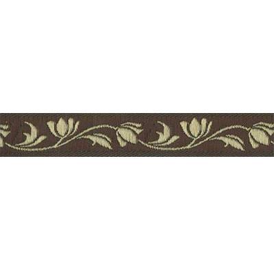 Лента жаккардовая  TRJ-07 16мм 10м коричневый