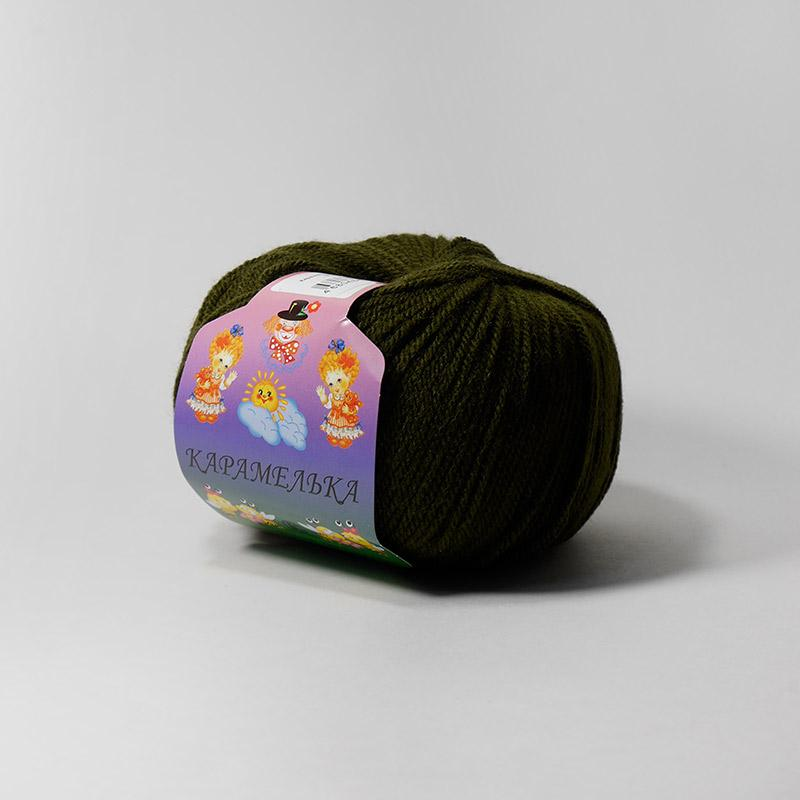 Пряжа Карамелька 038  - оливковый