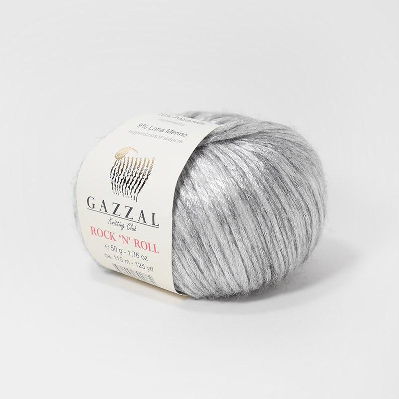 Пряжа Рок-н-ролл 13255 - светло-серый