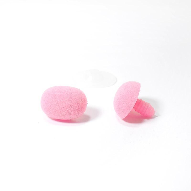 Носик винтовой бархатный 21х16мм овальный розовый