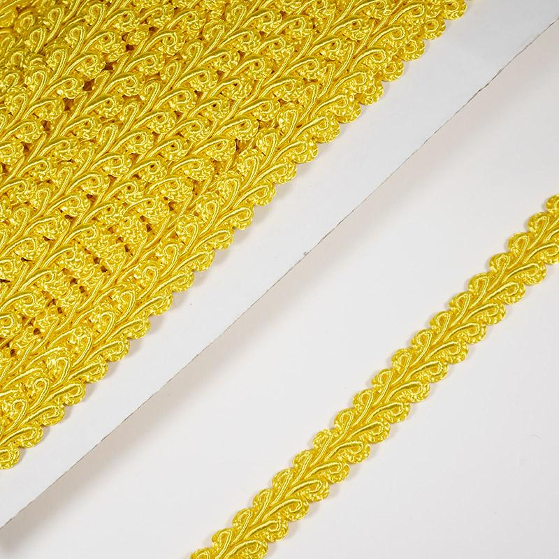 Тесьма Шанель 10мм 18.2м 023 желтый