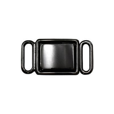 Застежки для бюстгальтеров ВВТ039 27х14мм 10шт металл 06 ч.никель