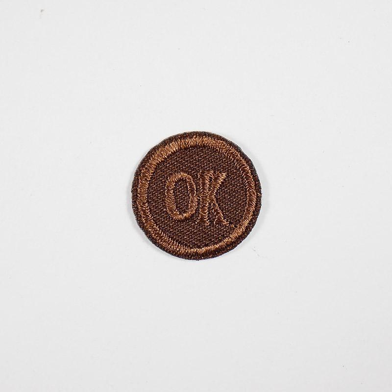 Термоаппликация ОК d 2,0см, круг арт 042, коричневый