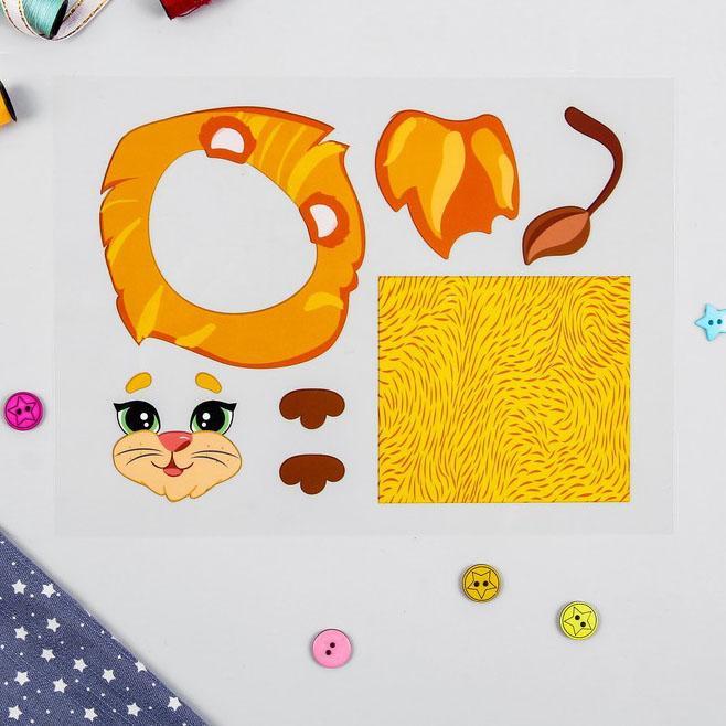 Термонаклейка для декорирования текстильных изделий Лев 20х15см 4050116