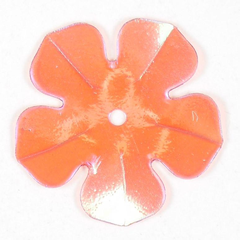 Пайетки Одеон Цветок прозрачные перламутровые 741