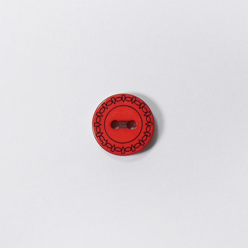 Пуговицы Рубашка L049 2 прокола 13мм красный Одеон 1шт