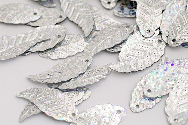 Пайетки TBY-FLK629 12х32мм 50112 серебряный