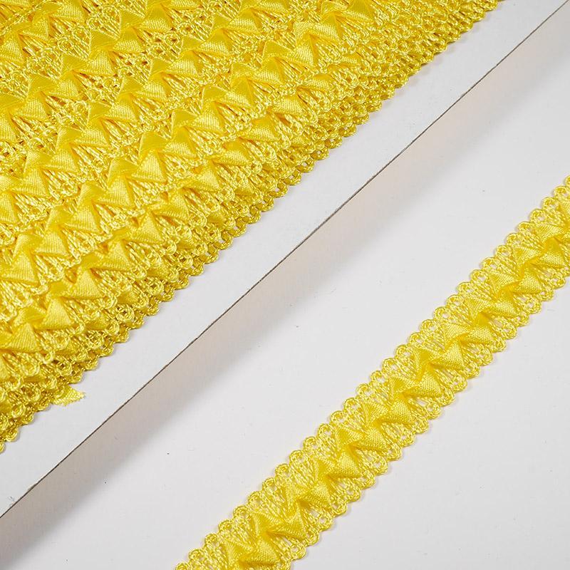 Тесьма Самоса 023  15мм 18,2м желтый