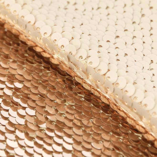 Ткань для пэчворка Молочная-золотая 33х33см 3891590