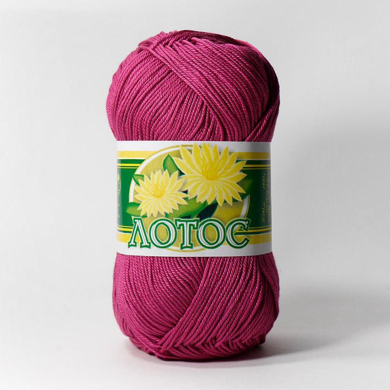 Пряжа Лотос 1410 - пурпурный