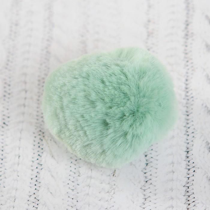 Помпон из искуственного меха 5см 3шт нежно-зеленый 3487986