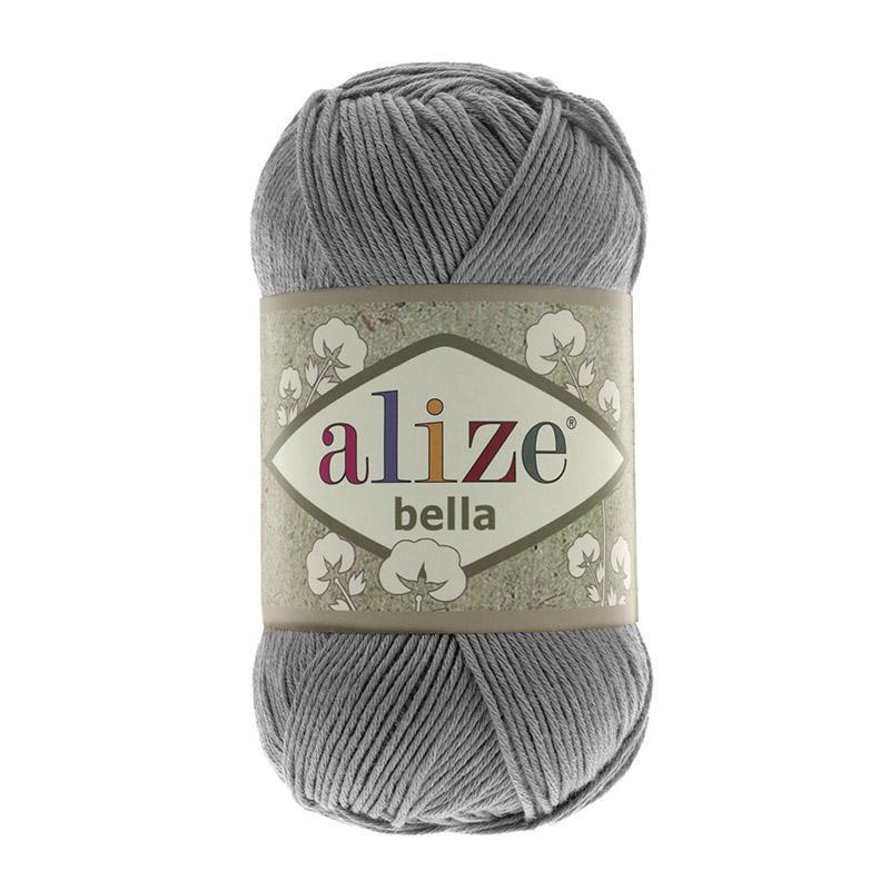 Пряжа Белла 87 - угольно серый