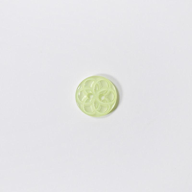 Пуговицы Блузочные с рисунком 13мм 2 прокола L06 св.салатовый