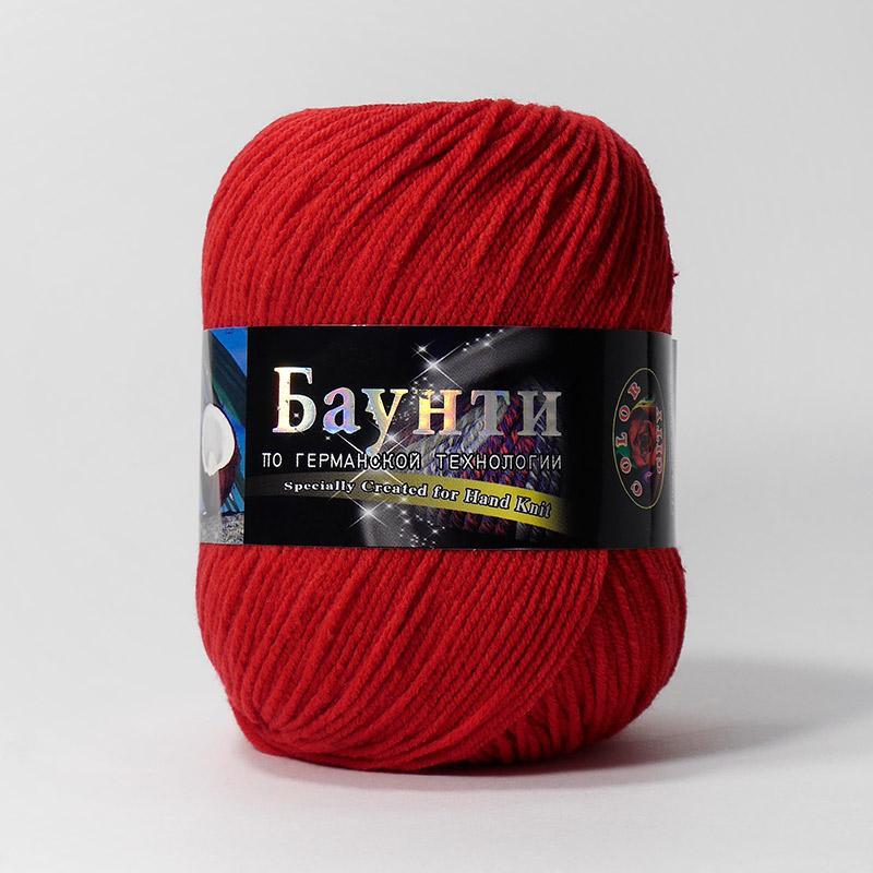 Пряжа Баунти 016 - красный