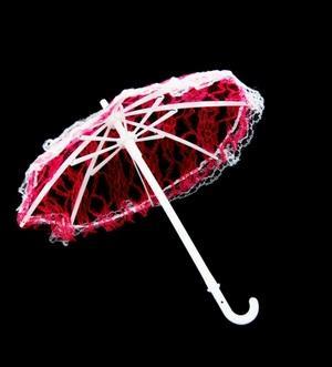 Зонтик большой 26см гипюр 22953 малиновый