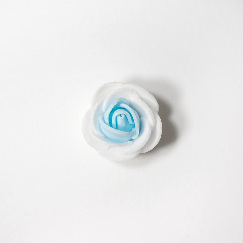Цветочки двухцветные мелкие 3см голубой 15-139