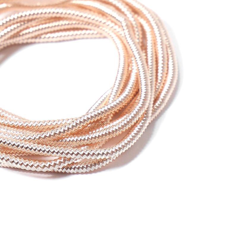 Канитель 2мм 1176EMB св.розовое золото витая жесткая 5гр