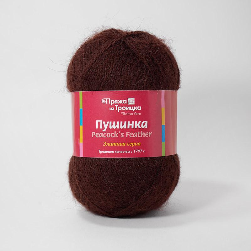 Пряжа Пушинка 0412 - шоколад