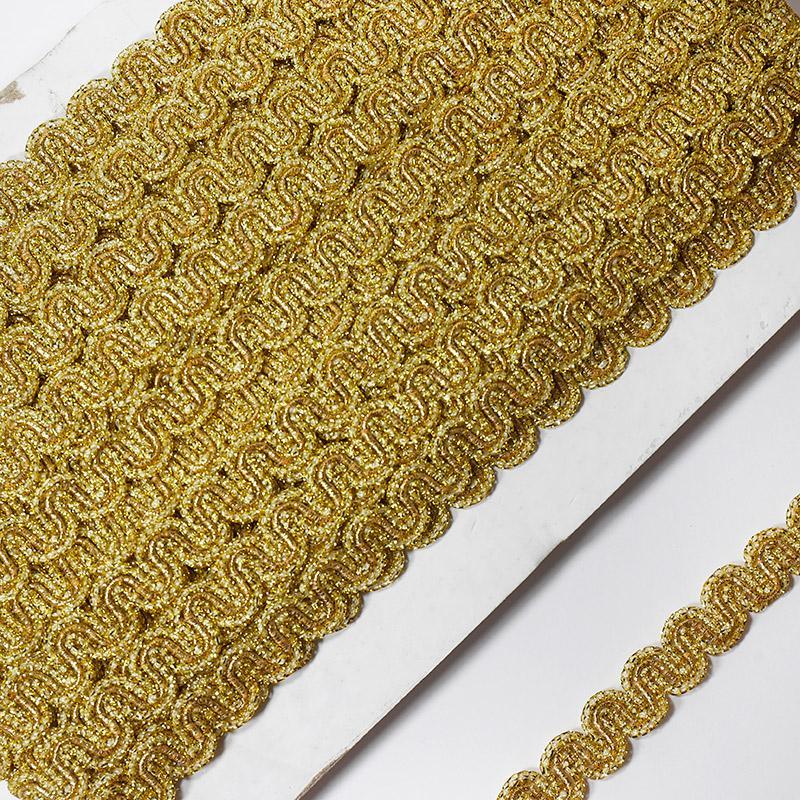 Тесьма 12мм 18.28м FX L024 золото