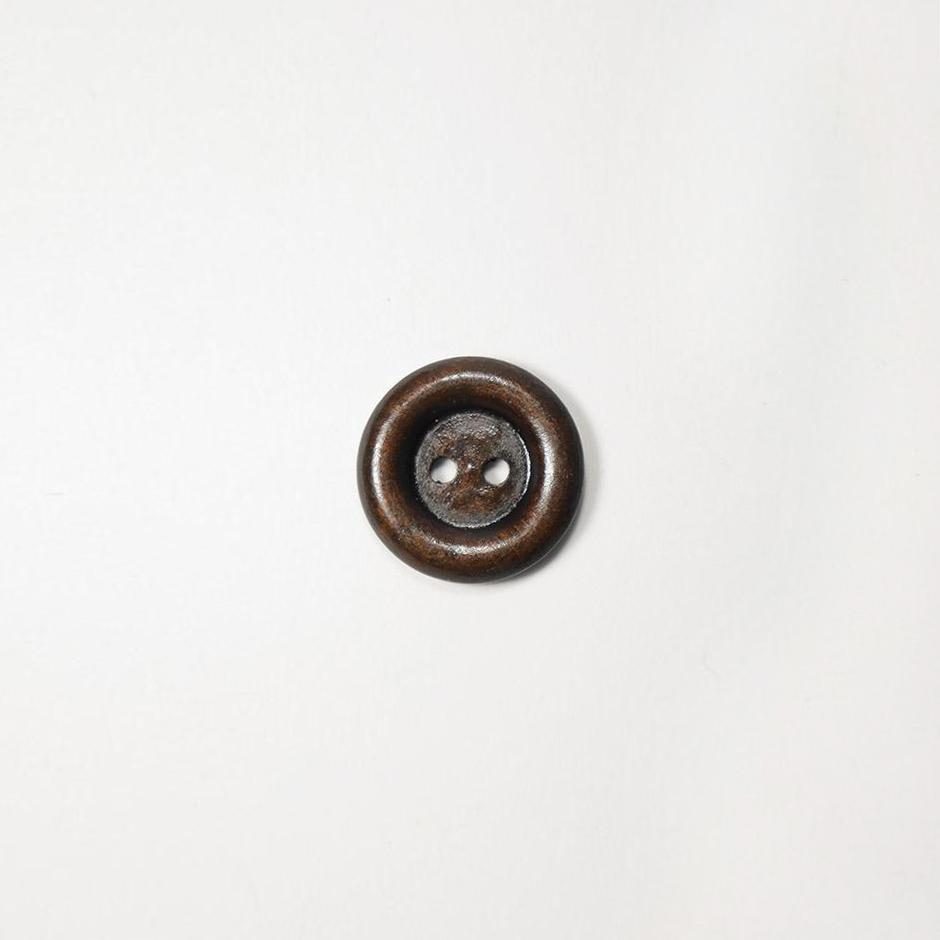 Пуговицы дерево 18мм круг 2 прокола одеон т.коричневый