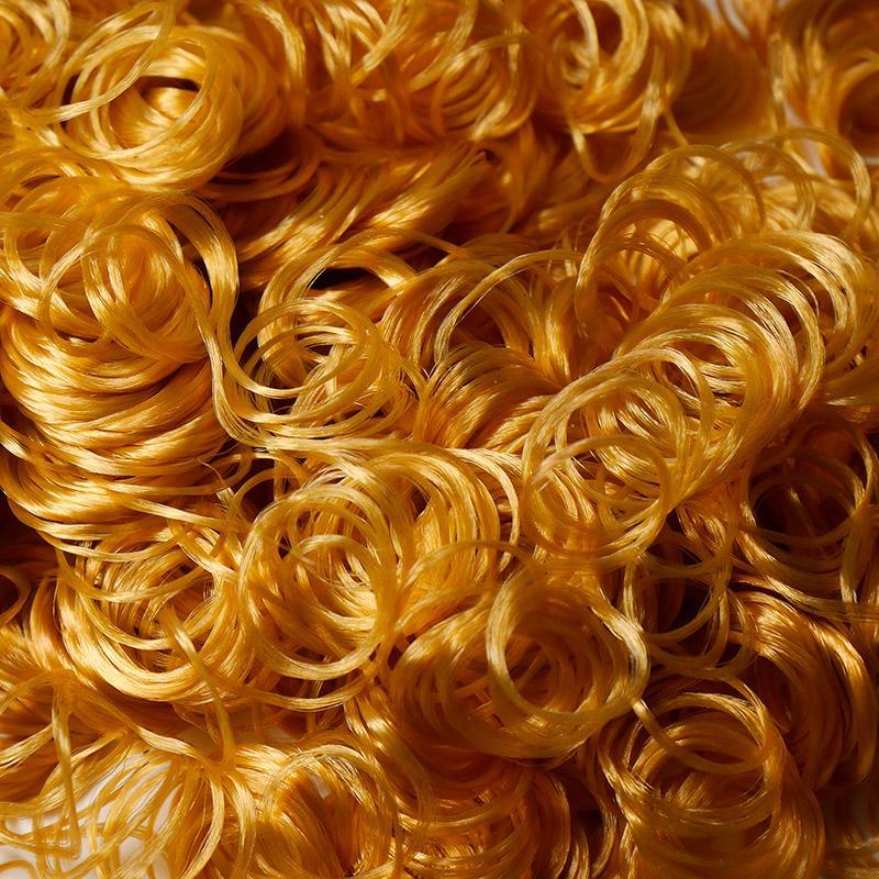 Волосы-кудри для игрушек d-2см терракотовый
