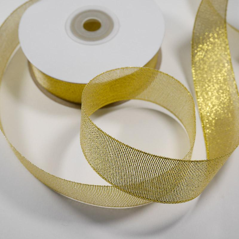 Лента металлизированная 50мм золото 22,5м