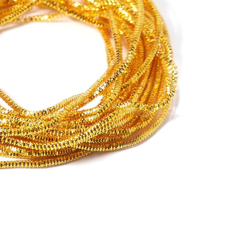 Канитель 0,7мм 4980EMBNK медовое золото трунцал 5гр