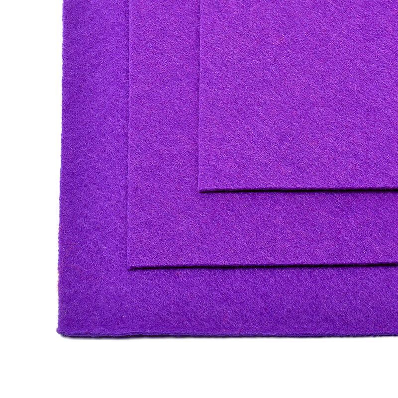 Фетр листовой жест. FLT-H1 1мм 20*30см 10шт 620 фиолетовый IDEAL