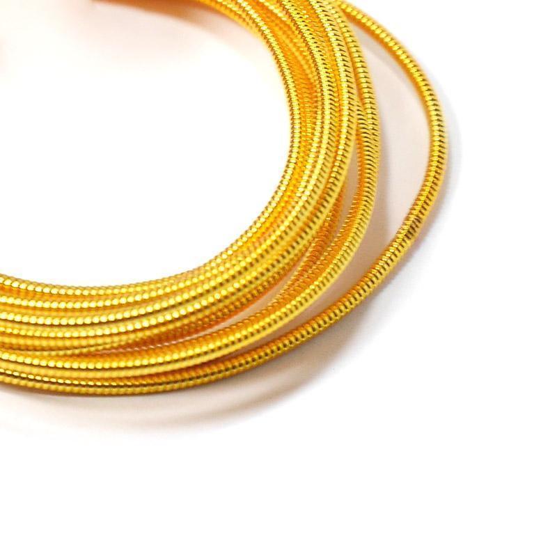 Канитель 1мм 1442-EMB т.золото жесткая 5гр