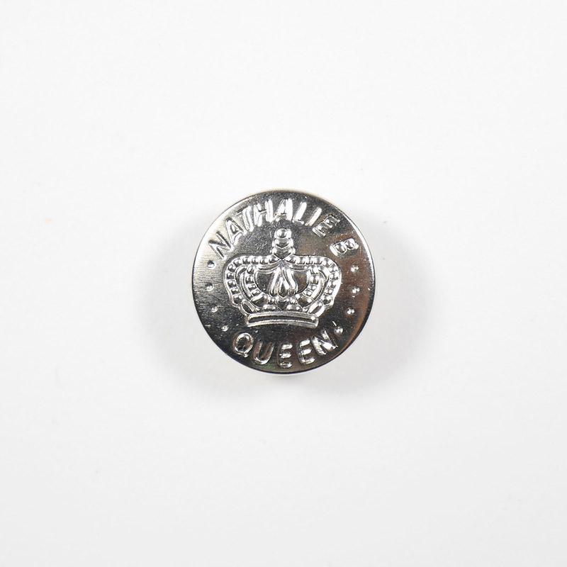 Пуговицы джинсовый 20мм NATALIE QUEEN, серебро